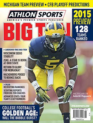 Athlon Sports 2015 College Football Big Ten Preview Magazine- Michigan Wolverines Cover