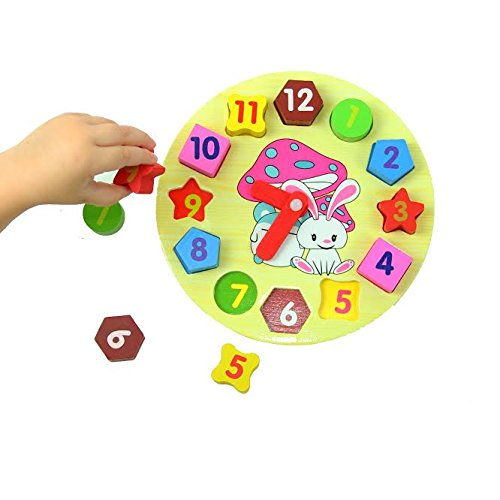 Dazzling Toys Kids Teaching Geometry Clock (D296)