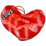 Style Addict Soft Printed Plush Heart No.4 Soft Toy, Red