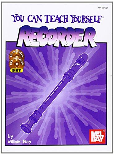 Mel Bay You Can Teach Yourself Recorder Book/CD/DVD Package (You Can Teach Yourself)