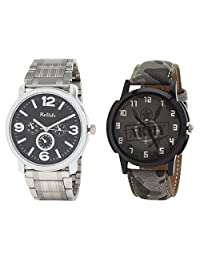 Relish Analog Round Casual Wear Watches For Men Combo - B01ANCDWUO