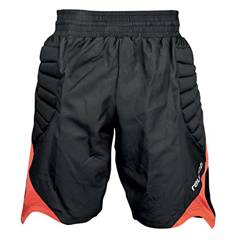 Reusch, Pantaloni corti Unisex adulto Eldarion, Nero (Black/Fiesta Red), XL