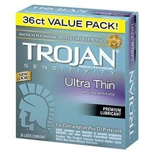 Trojan Ultra Thin 36ct, pk of 2