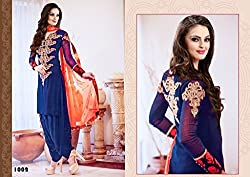 Zofey Fashion Women Semi Stitched Salwar Suit Set(HF_ShrutiBlue_Blue_Free Size)