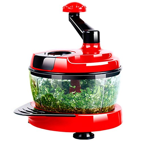 Red Hand Held Salad Chopper