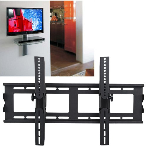 Black Slim LCD LED Plasma Flat-panel TV Tilt Wall Bracket Mount 32-65&#8243;