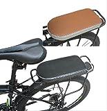 自転車 荷台 やわらか クッション 【 STTS 】 自転車架台用 リア キャリア シート カバー ワンタッチ 式 で 取り付け 簡単 (ブラック)