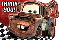 Disney's Cars 2 Die Cut Thank You Cards 8 Pack by Coolglow