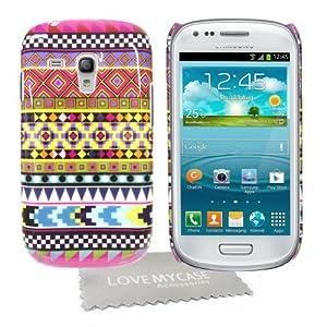 StyleBitz / Coque rigide pour Samsung Galaxy S3 Mini, SIII Mini et i8190, motif géométrique + protection d'écran et tissu de nettoyage (multicolore)