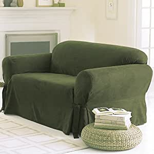 Soft Micro Suede Solid Sage Green Couch Sofa