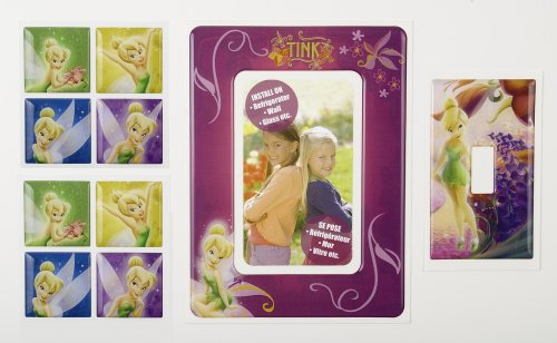 Brewster 93921 Disney Fairies Tile Combo, 4 Piece Set