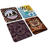 Twin Peaks Coasters (mixed set of 4) inspired by David Lynch's classic TV Series.