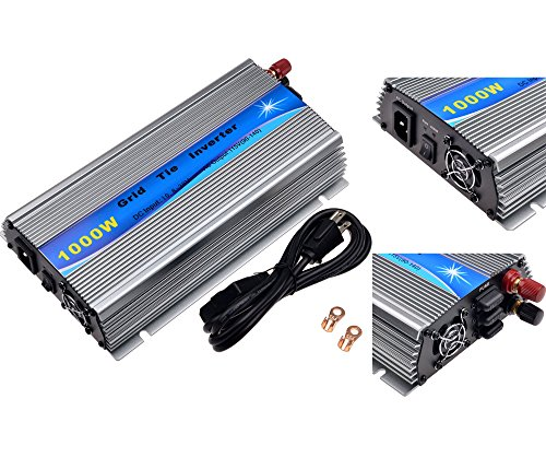 SolarEpic 1000W Grid Tie Inverter MPPT For Solar Panel Stackable Pure Sine Wave 10.8-30V Solar Input 90V-140V Output (Grid Tied Inverter compare prices)