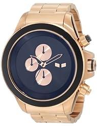 Vestal Men's ZR3019 ZR-3 Minimalist Rosegold Black Chronograph Watch