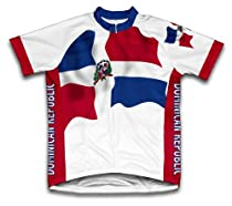 Dominican Republic Flag Short Sleeve Cycling Jersey for Men - Size 2XL