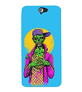 99Sublimation Skeleton With Cap 3D Hard Polycarbonate Back Case Cover for HTC One A9