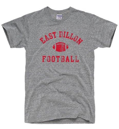Dirtyragz Men'S East Dillon Panthers Football T-Shirt L Heather Grey