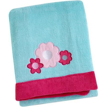 Baby Girl Coral Fleece Flower Blanket