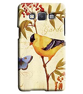 Blue Throat Garden With Bird And Butterfly Printed Designer Back Cover/Case For Samsung Galaxy A5
