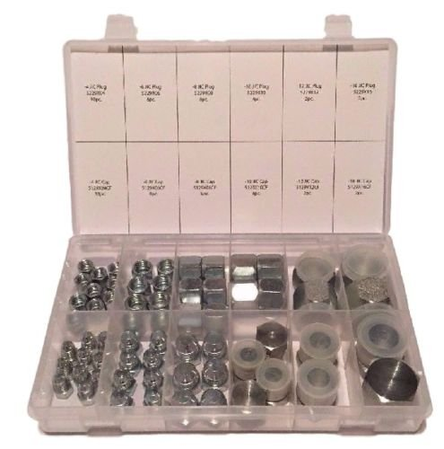 64 PC LOT JIC PLUG AND CAP HYDRAULIC ADAPTER FITTING