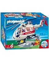 Playmobil - 4222 - Jeu de construction - Sauveteurs / hélicoptère de sauvetage