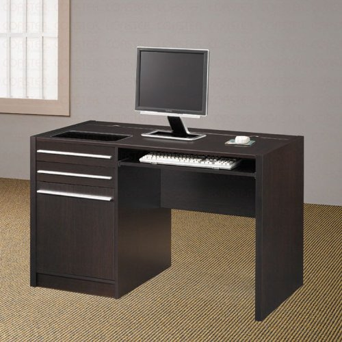 Buy Low Price Comfortable Dark Brown Stylish Computer Desk (B003XRBVXC)