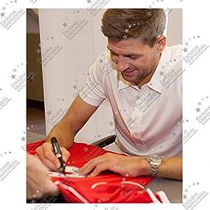 Steven Gerrard Signed Liverpool Soccer Jersey 2014-15 | Autographed EPL Football Memorabilia