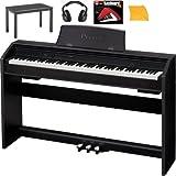 Casio PX750 Digital Piano Bundle With Casio CB7BK Furniture Style Bench, Headphones, Hal Leonard Instructional Book, & Polishing Cloth