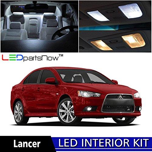 ledpartsnow-mitsubishi-lancer-2007-2015-xenon-white-premium-led-interior-lights-package-kit-6-pieces
