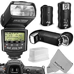 Altura Photo Flash Kit for NIKON DSLR D7100 D7000 D5300 D5200 D5100 D5000 D3300 D3200 D3100 - Includes: Altura Photo I-TTL Auto-Focus Dedicated Speedlite Flash + Wireless Camera Flash Trigger and Camera Remote Control Functio