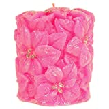 Hanukkah Candles Poinsettia Pretty Pink