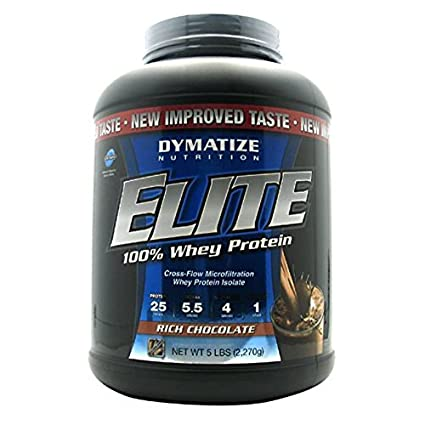 Dymatize Elite Whey Protein Rich Chocolate, 1er Pack (1 x 2,27 kg)