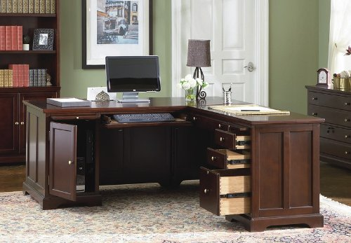 Buy Low Price Comfortable Home Office L-Shape Computer Writing Desk with Storage (B001HFB85I)