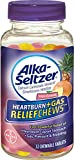 (Pack of 2) Alka-Seltzer Heartburn + Gas Relief Chews, 32 Tropical Punch Tablets each