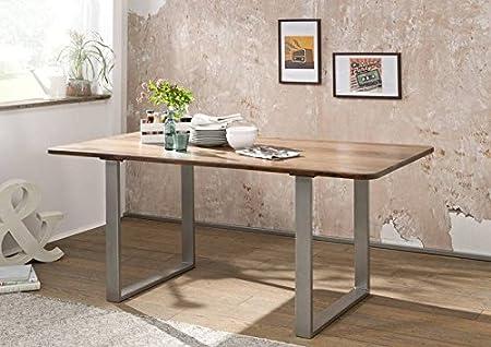 Table à manger 200x100cm - Bois massif de palissandre laqué - SHIELD #148