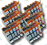 35 Chipped PGI-520 & CLI-521 Compatible Ink Cartridges for Canon Pixma iP4700 Printer