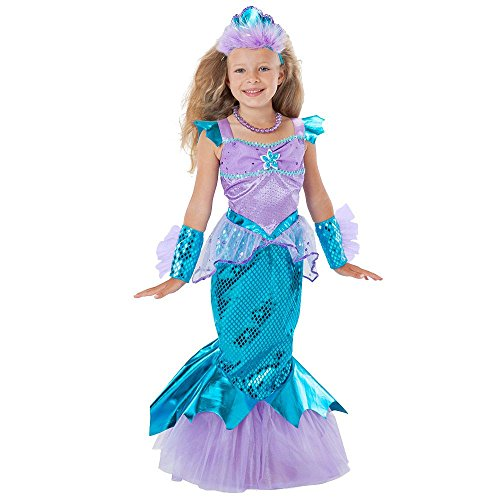 [Toddler Girls' 5-piece Sparkle Mermaid Costume, 5/6] (Little Girls Mermaid Costumes)