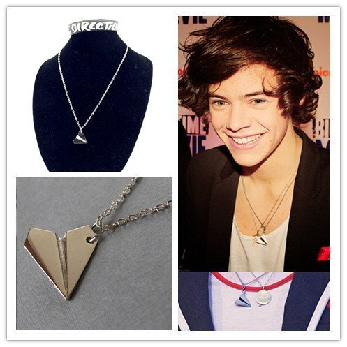 COLLANA CIONDOLO 1D ONE DIRECTION PENDENTE AEROPLANO HARRY STYLES
