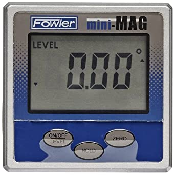 Fowler 54-422-450-1 Mini-MAG Protractor, 360° Maximum Measurement, 0.05° Repeatability
