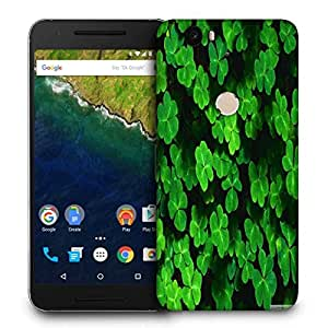 Snoogg Green Petals Printed Protective Phone Back Case Cover For LG Google Nexus 6P