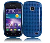Straight Talk Samsung Galaxy Proclaim Blue Soft TPU Case Skin Cover Cell Phone Accessory 720C SCH-S720C