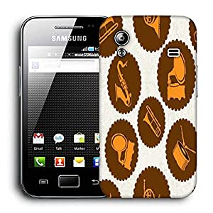 Snoogg Gramophone Printed Protective Phone Back Case Cover For Samsung Galaxy ACE S5830