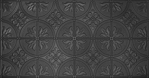global-specialty-products-pattern-no309-tin-style-panel-2-by-4-feet-black