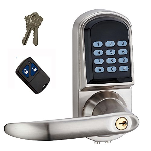 HAIFUAN Left Hand Electronic Keyless Code Door Lock,Unlock With Code,Remote control, And Mechanical Key (Remote Unlock Door compare prices)