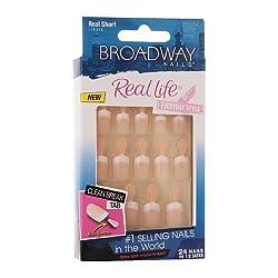 Broadway Nails Real Life Press-On Nails, Real Short, Pink 1 set made by AB