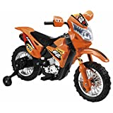 Electronic Ride-On Motorbike With Music And Sound Effects (Orange)