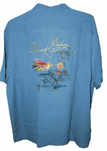 Tommy bahama embroidered legendary lures silk camp shirt for Tommy bahama embroidered silk camp shirt