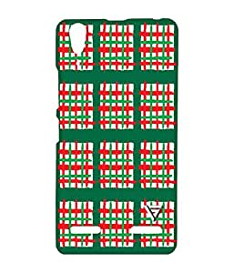 Vogueshell Red Line Pattern Printed Symmetry PRO Series Hard Back Case for Lenovo A6000