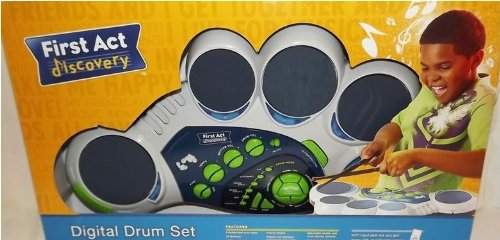 First Act Discovery 5 Pad Digital Drum Set