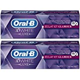 Oral-B Manual Dentifrice 3D White Luxe Eclat et Glamour 75 ml - Lot de 2